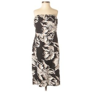 Banana Republic Printed Strapless Dress